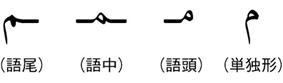 アラビア語の表記例