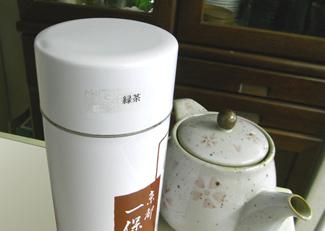 点字シールを茶筒に貼った写真