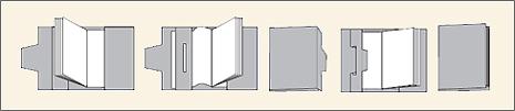 ブックカバーの組み立て説明図