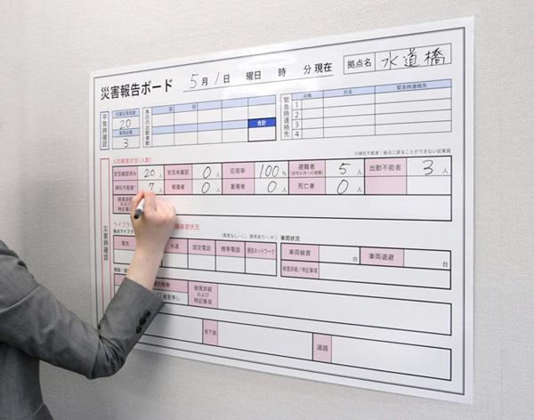 災害報告ボードの利用イメージ