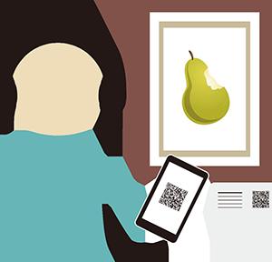 美術館の展示物説明の画像