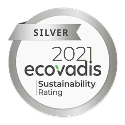 EcoVadis2021のシルバー評価マークの写真